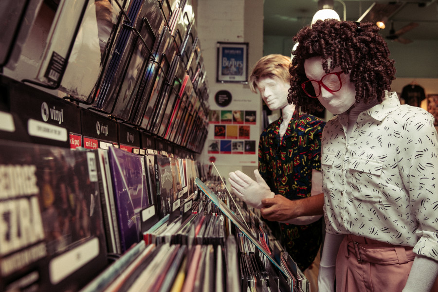 Kate and Alan - Record Store